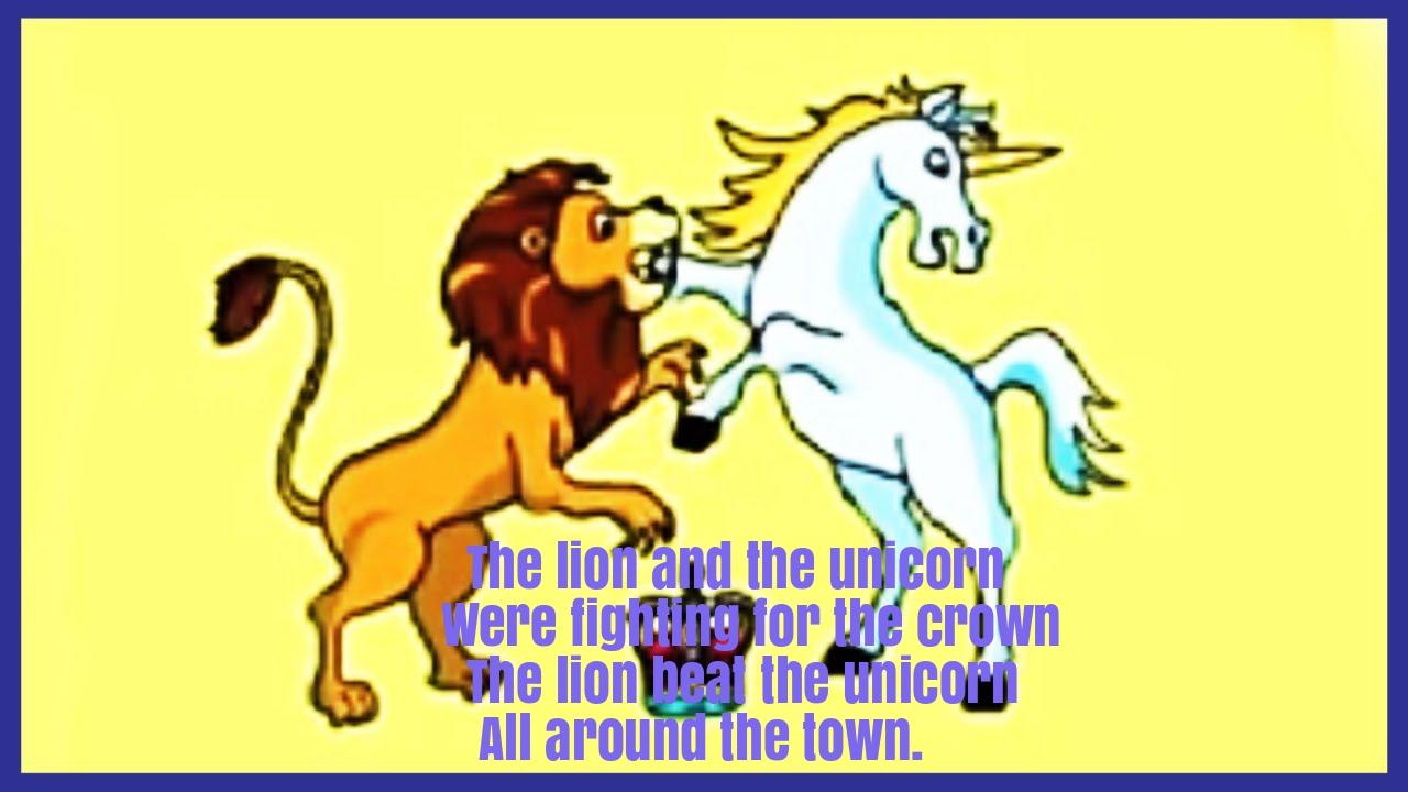 The Lion And The Unicorn Nursery Rhyme Lyrics Super Fun Baby