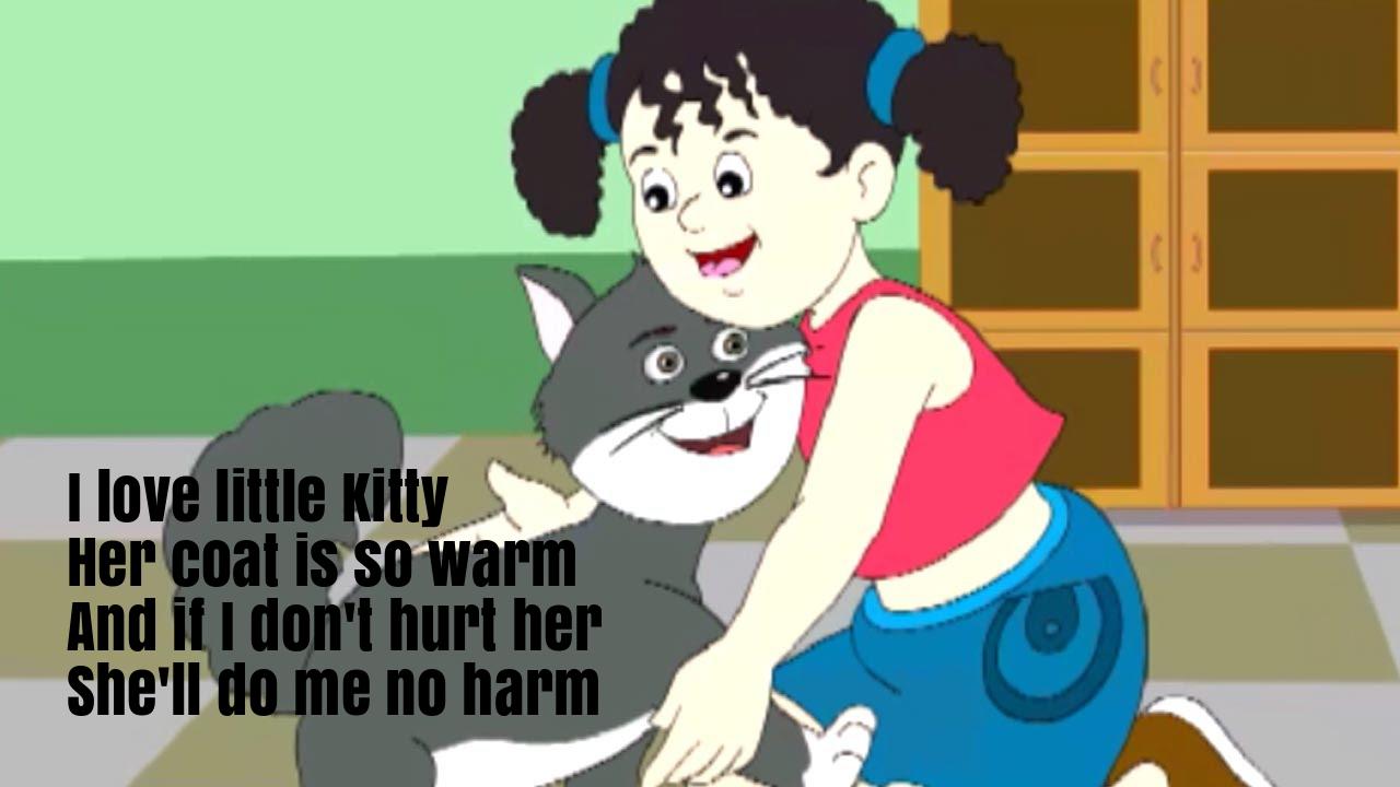I Love Little Kitty Nursery Rhyme Lyrics