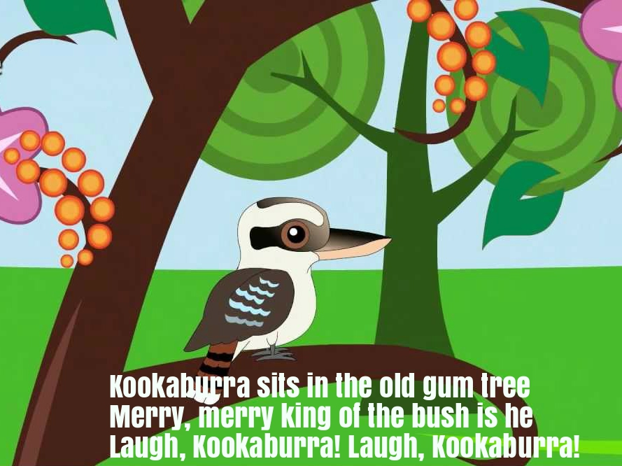 Kookaburra Nursery Rhyme Lyrics