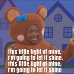 This Little Light of Mine Nursery Rhyme Lyrics