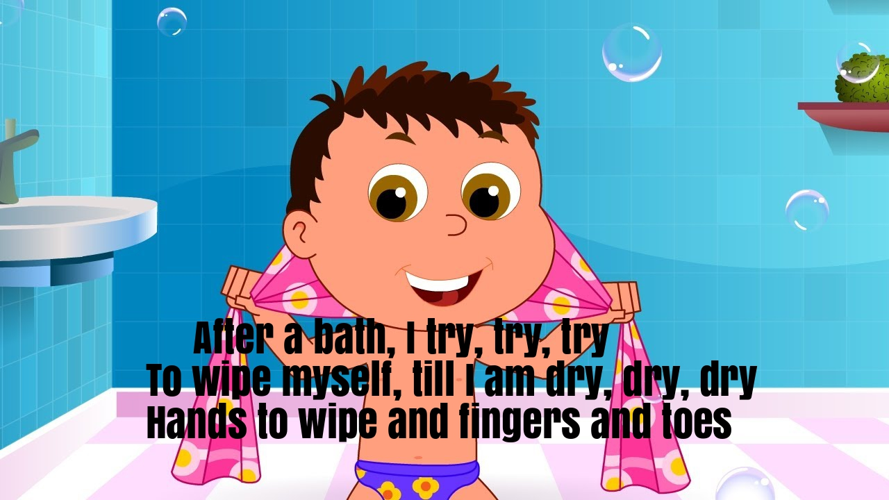 After A Bath Nursery Rhyme Lyrics
