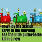 Down By The Station Nursery Rhyme Lyrics