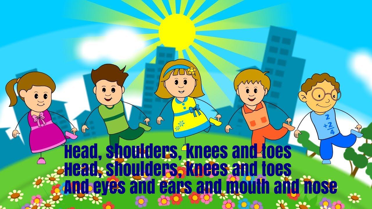 Head Shoulders Knees And Toes Nursery Rhyme Lyrics