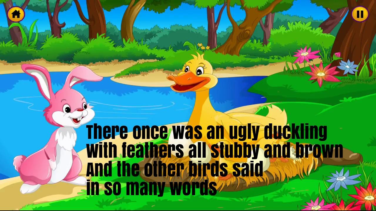 The Ugly Duckling Nursery Rhyme Lyrics