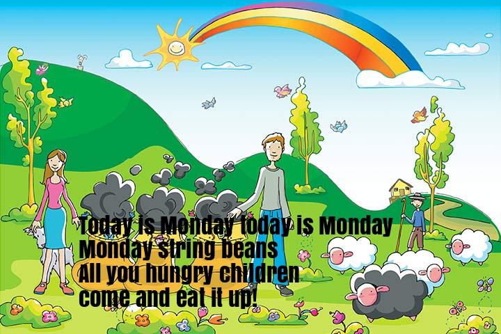 Today Is Monday Nursery Rhyme Lyrics
