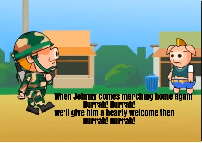When Johnny Comes Marching Home Nursery Rhyme Lyrics