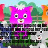 Five Little Kittens Jumping On The Bed Nursery Rhyme Lyrics