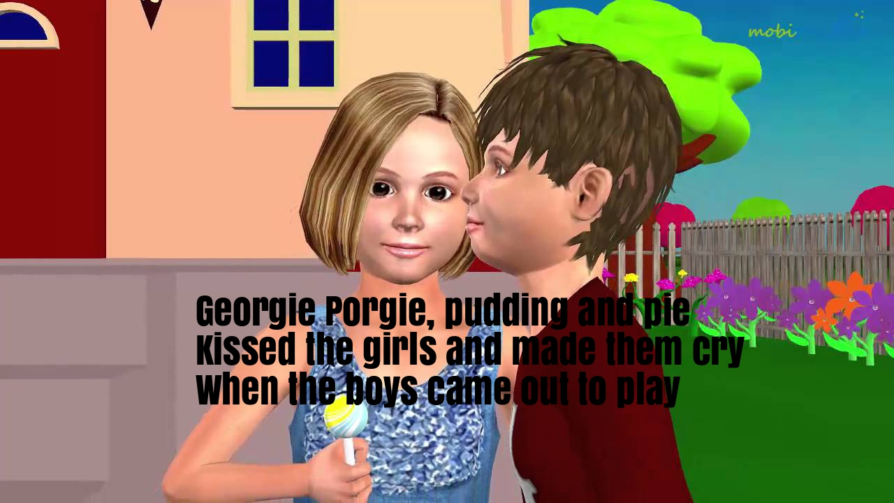 Georgie Porgie Nursery Rhyme Lyrics