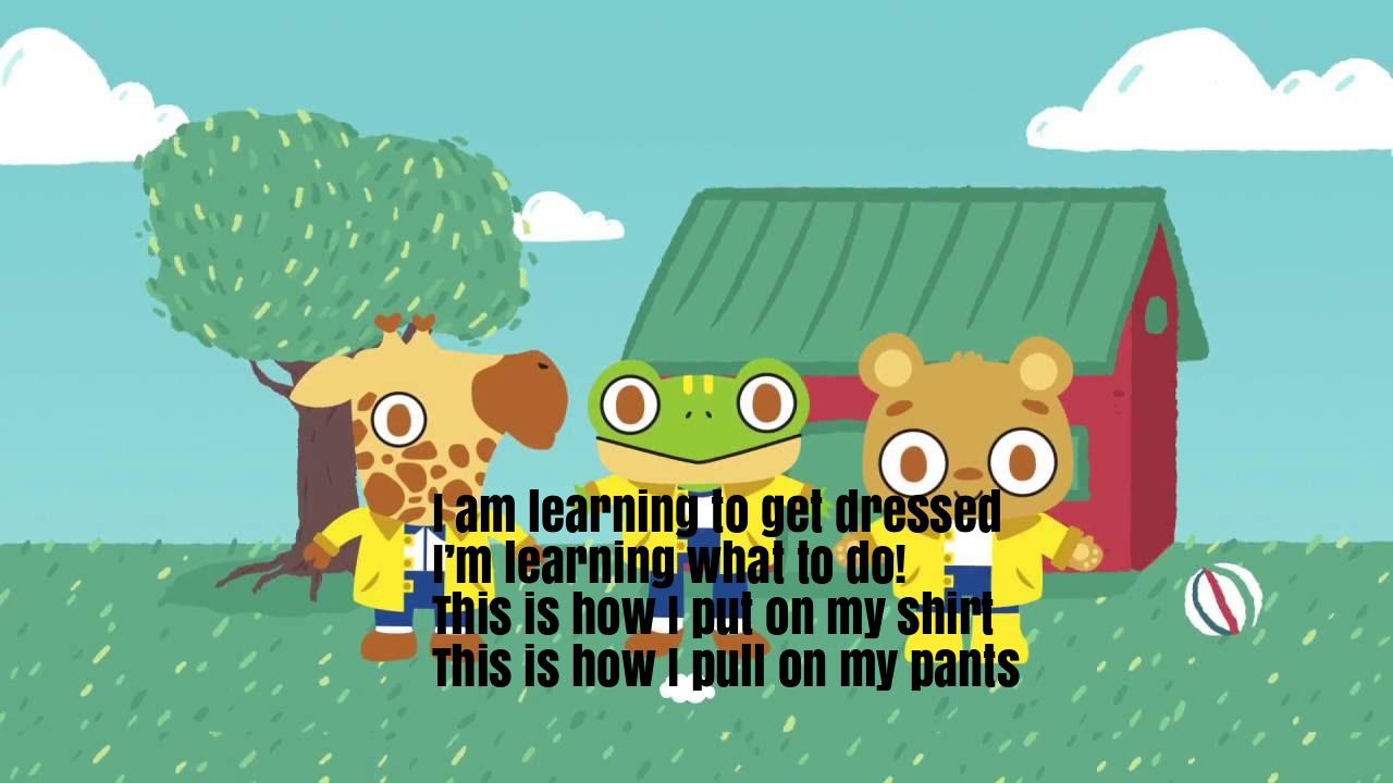 Getting Dressed Nursery Rhyme Lyrics