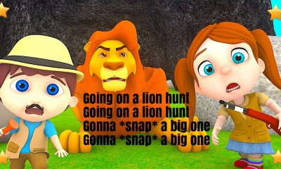Going On A Lion Hunt Nursery Rhyme Lyrics