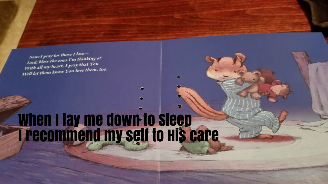 Now I Lay Me Down To Sleep Nursery Rhyme Lyrics