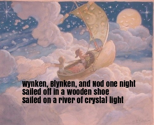 Wynken, Blynken, and Nod Nursery Rhyme Lyrics