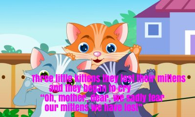 3 Little Kittens Part 2 Nursery Rhyme Lyrics
