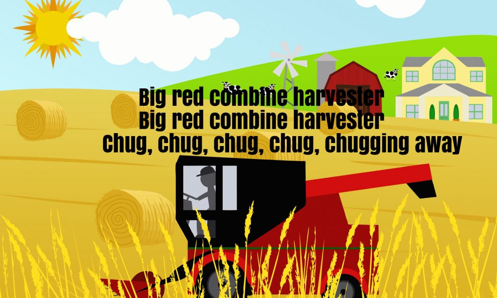 Big Red Combine Harvester Song Lyrics Super Fun Baby