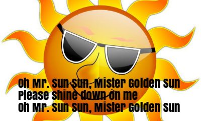 Mr Sun, Sun, Mister Golden Sun nursery Rhyme Lyrics