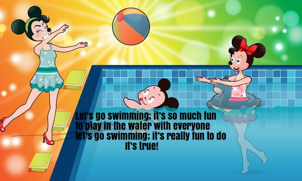 Swimming song rhyme lyrics super fun baby for Swimming swimming in the swimming pool song lyrics