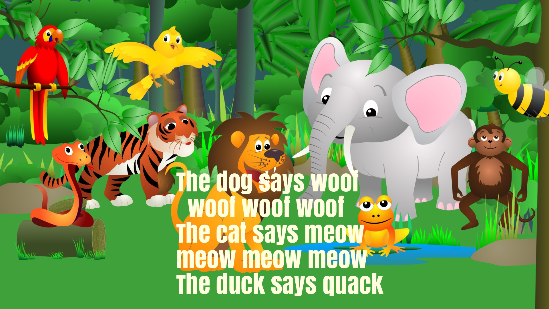 The Animal Sounds Song for Children Rhyme Lyrics