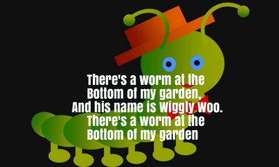 There's A Worm At The Bottom Of The Garden Nursery Rhyme Lyrics