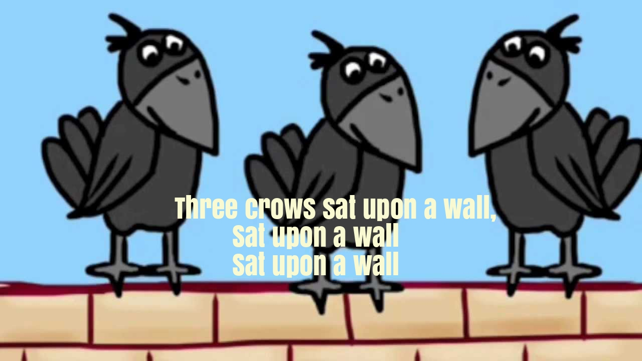 Three Crows Nursery Rhyme Lyrics
