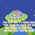 Five Little Men In A Flying Saucer Nursery Rhyme Lyrics