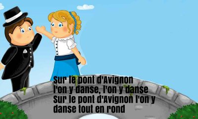 Sur Le Pont D'Avignon Nursery Rhyme Lyrics