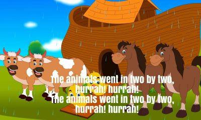 The Animals Went In Two By Two Nursery Rhyme Lyrics