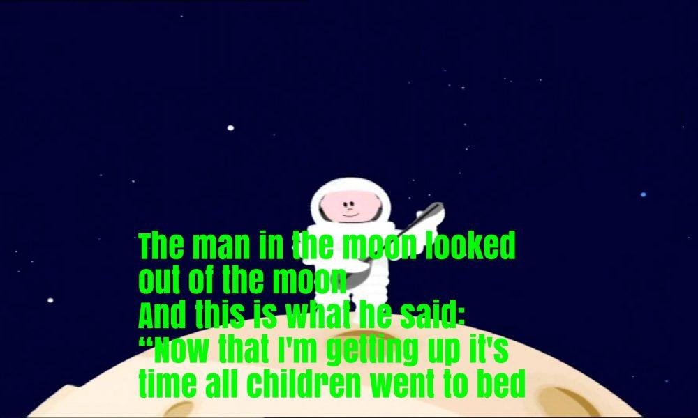 The Man In The Moon Nursery Rhyme Lyrics