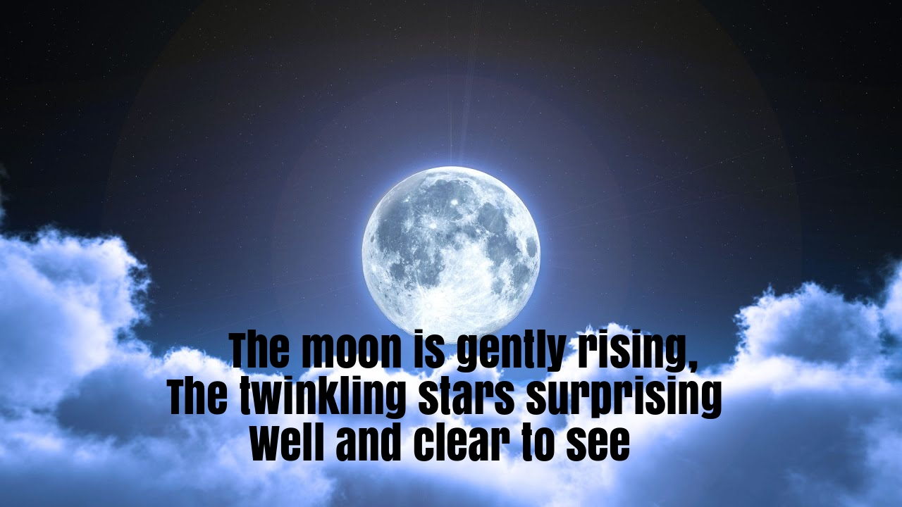 The Moon Is Gently Rising Nursery Rhyme Lyrics