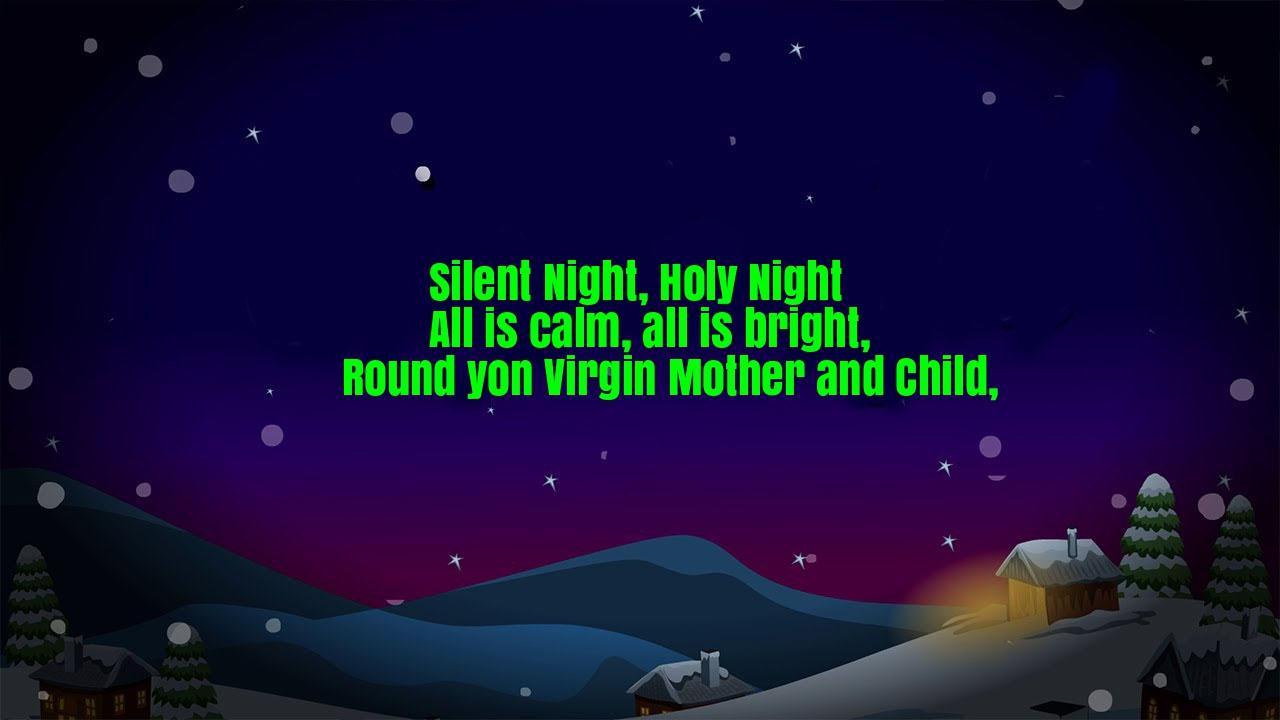 Silent Night Nursery Rhyme Lyrics