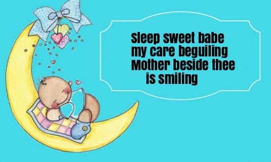 Sleep Sweet Babe Nursery Rhyme Lyrics