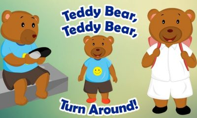 Teddy Bear, Teddy Bear, Turn Around Video And Lyrics kids song